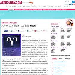 Aries Sun Sign - Zodiac Signs