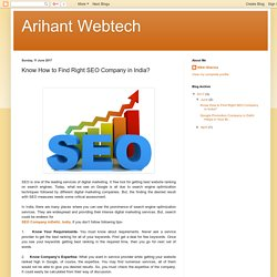 Know How to Find Right SEO Company in India?