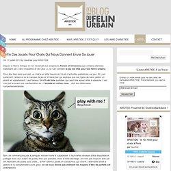 ARISTIDE Le blog du félin urbain » Enfin des jouets pour chats qui nous donnent envie de jouer