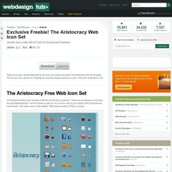 Exclusive Freebie! The Aristocracy Web Icon Set
