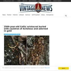 2500-year-old Celtic aristocrat buried with cauldron of Achelous and adorned in gold