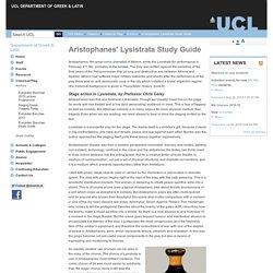 Aristophanes' Lysistrata Study Guide