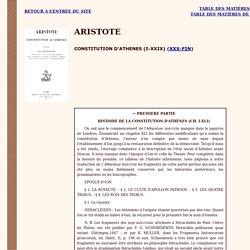 Aristote : Constitution d'Athènes