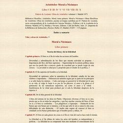 Aristóteles / Moral a Nicómaco / versión de Patricio de Azcárate, Madrid 1873