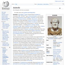 Aristotle - Philosopher
