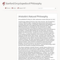 Aristotle's Natural Philosophy