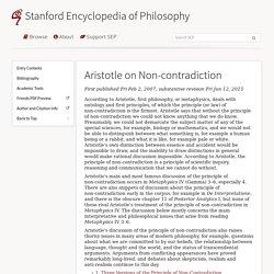Aristotle on Non-contradiction