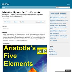 Aristotle's Physics: the Five Elements - a knol by Ira Glickstein