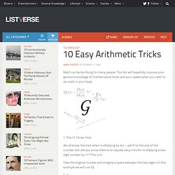 10 Easy Arithmetic Tricks