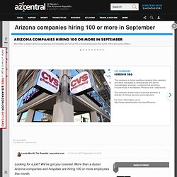 Arizona companies hiring 100 or more in September