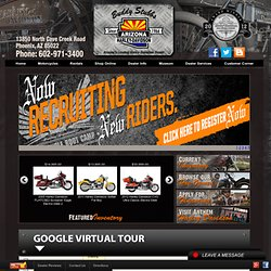 Phoenix, Peoria & Mesa Arizona New & Used Harley-Davidson motorcycle sales, parts, rentals, service, accessories & apparel.