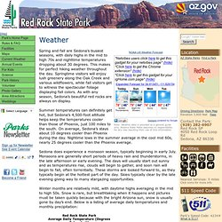 Arizona State Parks: Red Rock: Weather