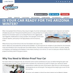 Is Your Car Ready for the Arizona Winter?