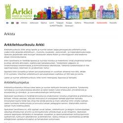 ARKKI Lasten ja nuorten arkkitehtuurikoulu