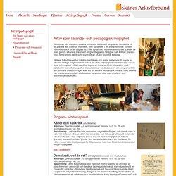 Skånes arkivförbund > Arkivpedagogik > Programutbud > Program- och temapaket