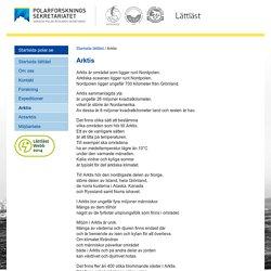 Polarforskningssekretariatet - Arktis