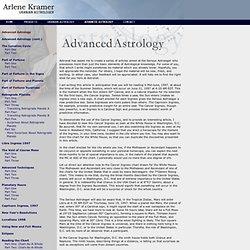 Arlene Kramer - Advanced Astrology