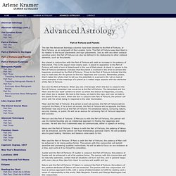 Arlene Kramer - Advanced Astrology