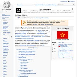 Armée rouge