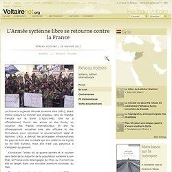 L'Armée syrienne libre se retourne contre la France