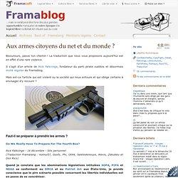 Aux armes citoyens du net et du monde ? - Framablog - Pale Moon