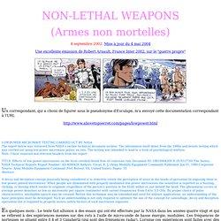 """Armes """"non-léthales"""""""