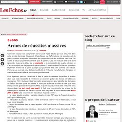 Armes de réussites massives - Blogs Intelligence économique