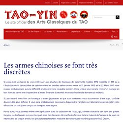Armes chinoises - TAO-YIN (et anecdote sur le Wing Chun)