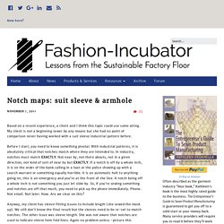 Notch maps: suit sleeve & armhole – Fashion-Incubator