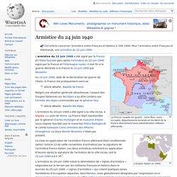 24/06/1940 Armistice avec l'Italie