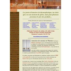 Portes d'armoires en thermoplastique, cuisine en thermo