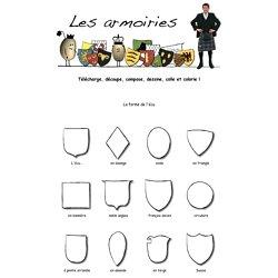 Les armoiries : télécharge, découpe, compose, dessine, colle et collorie !