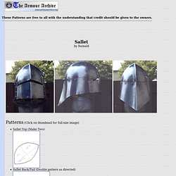 Helmet Pattern: Sallet by Rainald - Armour Archive