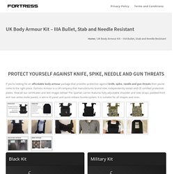 UK Body Armour Kit - IIIA Bullet, Stab and Needle Resistant - Fortress Body Armour