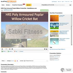 HRS Poly Armoured Poplar Willow Cricket Bat - Sabkifitness.Com