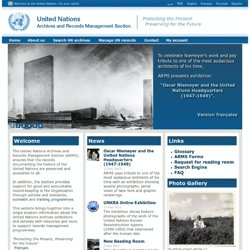 UN ARMS - Archive and Records Management Section