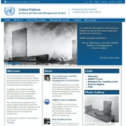 ARMS - UN Recordkeeping Policies & Standards