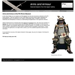 Arms and Armour at the Pitt Rivers Museum