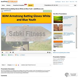 BDM Armstrong Batting Gloves White And Blue Youth - Sabkifitness.C..