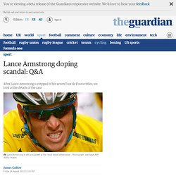 Lance Armstrong doping scandal: Q&A