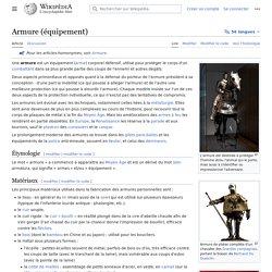 Armure (équipement)
