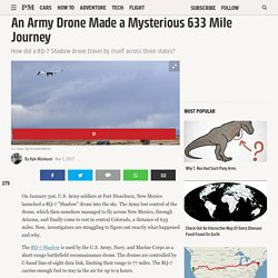 An Army Drone Made a Mysterious 633 Mile Journey