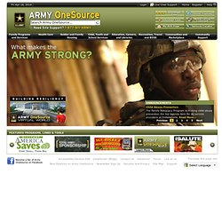 Army OneSource Home Page