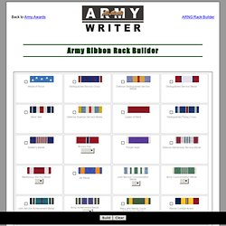 Army Ribbon Rack Builder