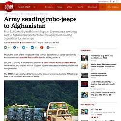 Army sending robo-jeeps to Afghanistan | Technically Incorrect