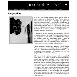 Arnaud Cathrine - Biographie