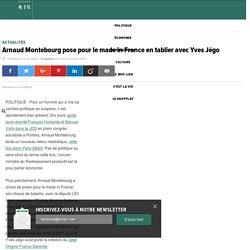 Arnaud Montebourg pose pour le made in France en tablier avec Yves Jégo