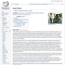 Arne Næss - deep ecology - 50s
