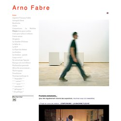 Arno Fabre - site officiel