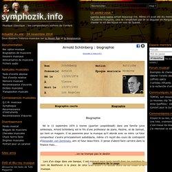 Arnold Schönberg : biographie